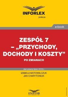 Chomikuj, ebook online Zespół 7 – Przychody, dochody i koszty po zmianach. Jan Charytoniuk