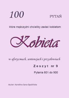 Chomikuj, ebook online ZESZYT 9. 100 pytań, które mężczyźni chcieliby zadać kobietom. Karolina Sara Opalińska