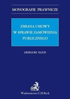 Ebook Zmiana umowy w sprawie zamówienia publicznego pdf
