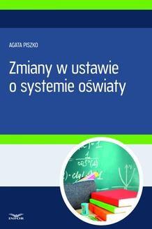 Ebook Zmiany w ustawie o systemie oświaty pdf