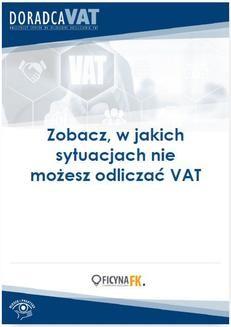 Ebook Zobacz, w jakich sytuacjach nie możesz odliczać VAT pdf