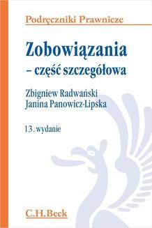 Chomikuj, ebook online Zobowiązania – część szczegółowa. Wydanie 13. Janina Panowicz-Lipska