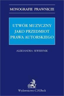 Ebook Utwór muzyczny jako przedmiot prawa autorskiego pdf